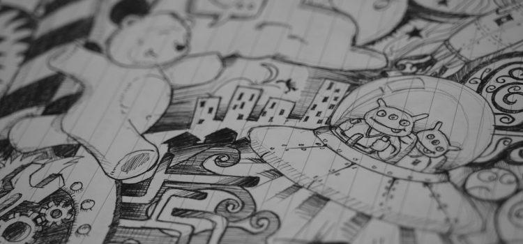 papier peint dessin